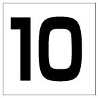 番号札<10> 角ゴ
