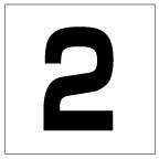 番号札<2> 角ゴ
