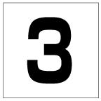 番号札<3> 角ゴ