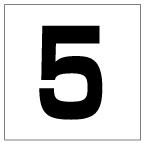 番号札<5> 角ゴ