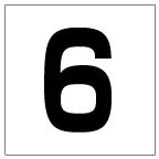 番号札<6> 角ゴ