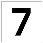 番号札<7> 角ゴ