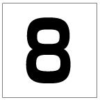 番号札<8> 角ゴ