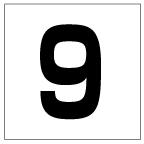 番号札<9> 角ゴ