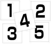 1〜5セット 角ゴ
