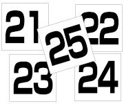 21〜25セット  角ゴ