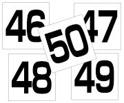 45〜50セット  角ゴ