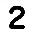 番号札<2> 丸ゴ