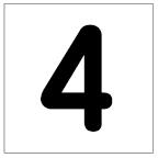 番号札<4> 丸ゴ