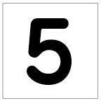 番号札<5> 丸ゴ