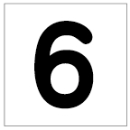 番号札<6> 丸ゴ