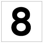 番号札<8> 丸ゴ