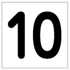 番号札<10> 丸ゴ