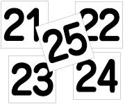 21〜25セット 丸ゴ