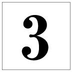 番号札<3> 明朝体