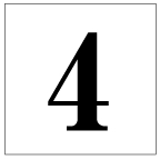 番号札<4> 明朝体