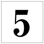 番号札<5> 明朝体