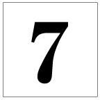 番号札<7> 明朝体