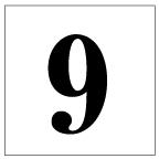 番号札<9> 明朝体