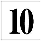 番号札<10> 明朝体