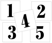 1〜5セット 明朝体