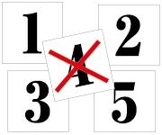 1〜5セット(4番なし) 明朝体