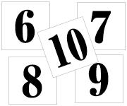 6〜10セット 明朝体