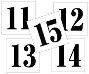 11〜15セット 明朝体