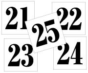 21〜25セット 明朝体