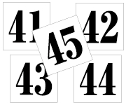 41〜45セット 明朝体