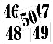 46〜50セット 明朝体
