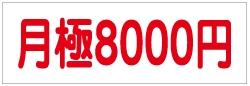 定番プレート 月極8000円